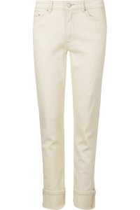 M&S Kremowe Jeansy Relaxed Slim, Long