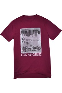River Island Bordowy T-Shirt, Los Angeles