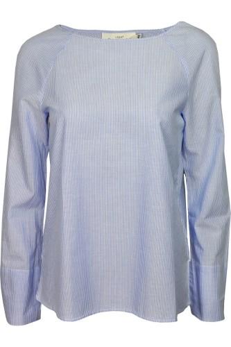 ccf799db94 H M Niebieska Asymetryczna Koszula w Paski H M - Outletka.com