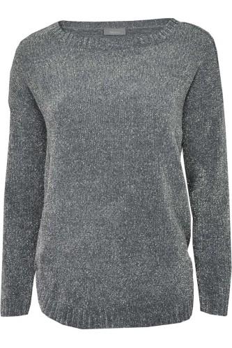 3ce8c3509f55d0 c&a-blyszczacy-sweter-grafitowy-srebrna-nitka-oversize-