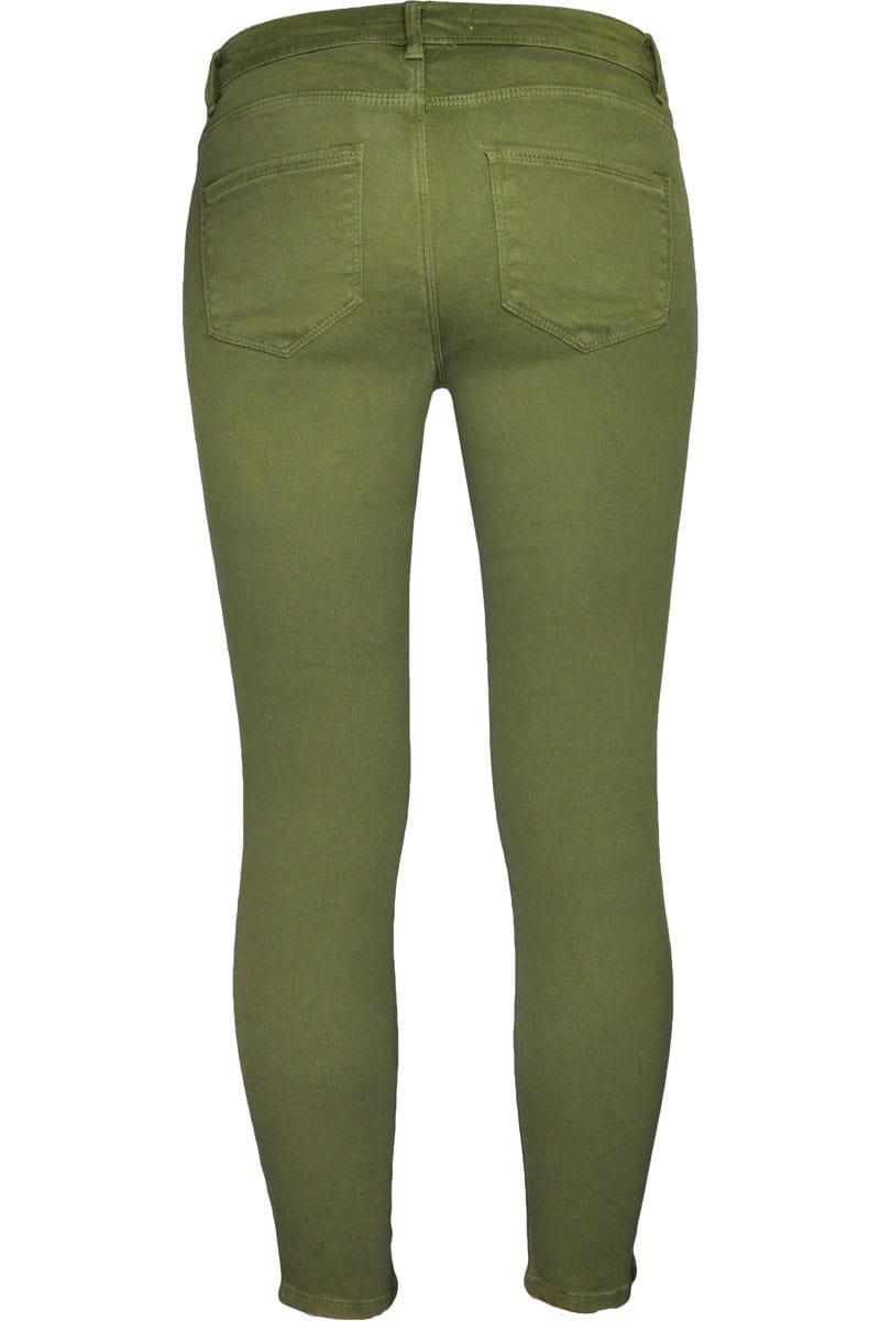 0653d914b5f56 ... zara-ciemnozielone-oliwkowe-spodnie-skinny-rurki-ankle-glowne- ...